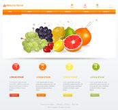 Modello del sito Web Fotografie Stock