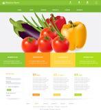 Modello del sito Web Fotografia Stock