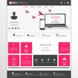 Modello del sito Web di affari - progettazione di Home Page - pulito e semplice - con uno spazio per un testo Fotografia Stock Libera da Diritti
