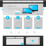 modello del sito Web di affari - progettazione di Home Page - pulito e semplice - vector l'illustrazione Fotografie Stock