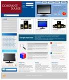Modello del sito Web di commercio elettronico Fotografie Stock Libere da Diritti