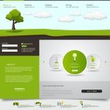 Modello del sito Web di Eco Fotografia Stock