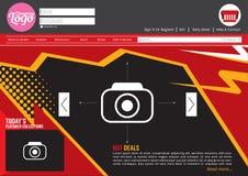 Modello del sito Web di Home Page Fotografia Stock Libera da Diritti
