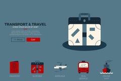 Modello del sito Web di viaggio Fotografie Stock Libere da Diritti