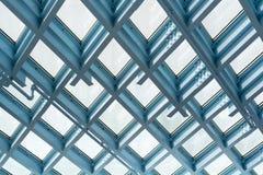 Modello del soffitto d'acciaio e di vetro fotografia stock libera da diritti
