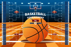 Modello del sostegno di torneo di pallacanestro illustrazione di stock