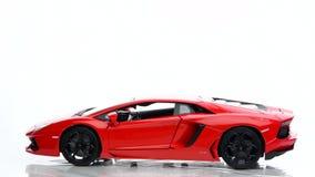 Modello del supercar di Lamborghini Aventador video d archivio