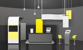 Modello del supporto 3D di mostra di pubblicità Immagine Stock
