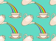 Modello del tè dell'arcobaleno Immagine Stock