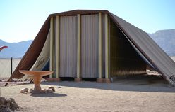 Modello del tabernacolo, tenda di riunione nel parco di Timna, deserto di Negev, Eilat, Israele fotografie stock libere da diritti