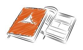 Modello del taccuino del blocco note Icona di stile del profilo Immagini Stock Libere da Diritti