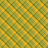 Modello del tartan in giallo ed in verde Struttura per il plaid, tovaglie, vestiti, camice, vestiti, carta, lettiera, coperte, tr illustrazione vettoriale