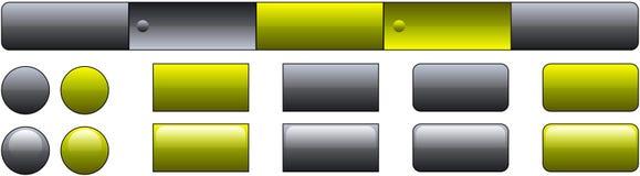 Modello del tasto di Web site Immagine Stock