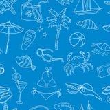 Modello del tema della festa della spiaggia Immagini Stock Libere da Diritti