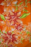 Modello del tessuto con floreale Fotografie Stock Libere da Diritti