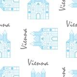 Modello del tessuto della st Stephens Cathedral di Vienna Immagine Stock Libera da Diritti