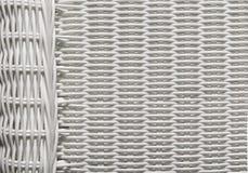 Modello del tessuto di struttura del canestro, fondo di vimini bianco Fotografie Stock Libere da Diritti