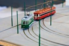 Modello del treno Fotografie Stock