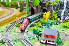 Modello del treno Fotografie Stock Libere da Diritti
