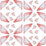 Modello del triangolo dell'acquerello Immagini Stock