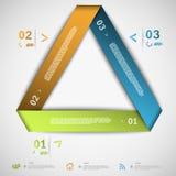 Modello del triangolo della carta di Infographic Fotografia Stock