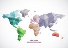 Modello del triangolo di progettazione della mappa di mondo di vettore Immagini Stock