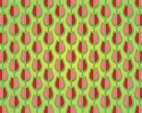 Modello del tulipano decorato nei colori di primavera Fotografie Stock