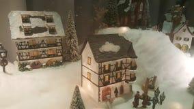 Modello del villaggio di inverno Fotografie Stock Libere da Diritti
