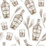 Modello del whiskey Immagini Stock Libere da Diritti