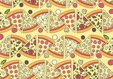 Modello delizioso della pizza con gli ingredienti Immagine Stock