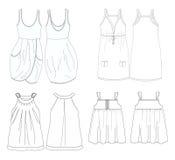 Modello dell'abito delle ragazze   Immagini Stock