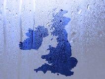 Modello dell'acqua sopra la mappa BRITANNICA royalty illustrazione gratis