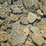 Modello dell'acqua sulle rocce Immagine Stock