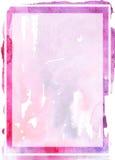 Modello dell'acquerello Fotografia Stock