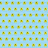 Modello dell'acquerello con i peperoni gialli su fondo a strisce marino Fondo senza cuciture con i peperoni dolci può essere usat Fotografia Stock Libera da Diritti