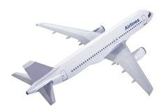 Modello dell'aereo commerciale isolato su bianco Fotografia Stock Libera da Diritti