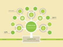 Modello dell'albero di Infographics Immagine Stock