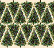 Modello dell'albero di Natale Fotografia Stock