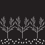 Modello dell'albero di vettore Immagini Stock
