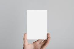 Modello dell'aletta di filatoio A6/cartolina/invito Fotografia Stock