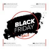 Modello dell'aletta di filatoio del manifesto di Black Friday immagini stock