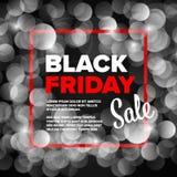 Modello dell'aletta di filatoio del manifesto di Black Friday fotografia stock