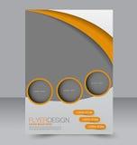 Modello dell'aletta di filatoio Progettazione dell'opuscolo Copertura di affari A4 Immagine Stock Libera da Diritti