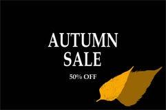 Modello dell'aletta di filatoio di vendita di autunno con iscrizione Foglie luminose di caduta Immagine Stock Libera da Diritti