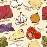 Modello dell'alimento delle lasagne al forno illustrazione di stock
