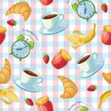 Modello dell'alimento di prima colazione illustrazione vettoriale