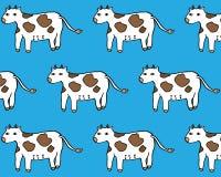 Modello dell'animale da allevamento della vacca da latte Fondo isolato vettore dell'illustrazione Fotografia Stock