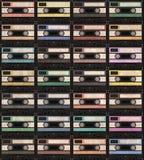 Modello dell'annata dell'audiocassetta Royalty Illustrazione gratis