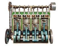 Modello dell'annata di un motore di automobile classico Immagine Stock Libera da Diritti