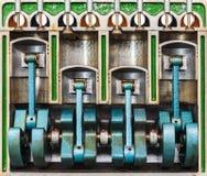 Modello dell'annata di un motore di automobile classico Fotografia Stock